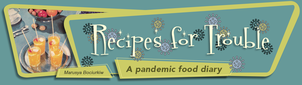 image logo for Recipes for Trouble, a pandemic diary